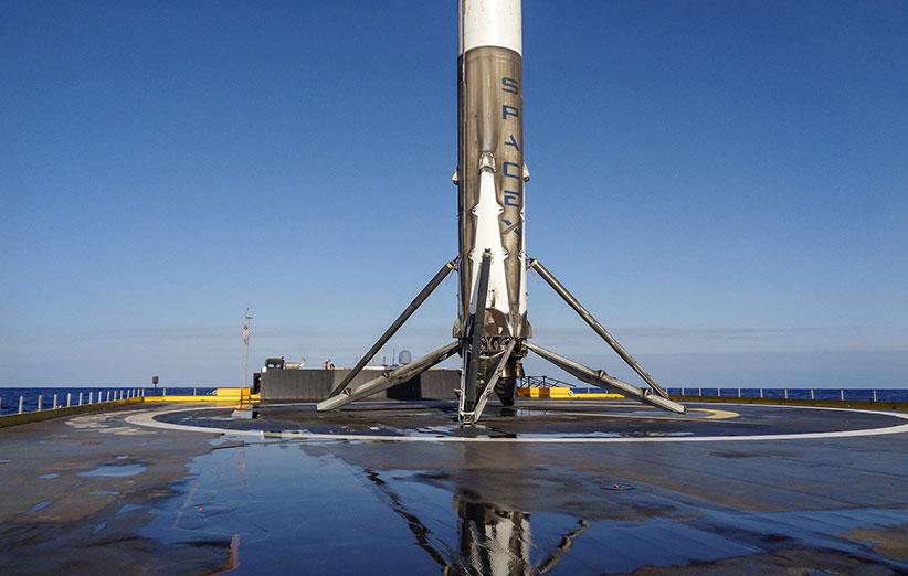 اسپیس ایکس برای دومین بار فالکن 9 را روی اقیانوس فرود آورد