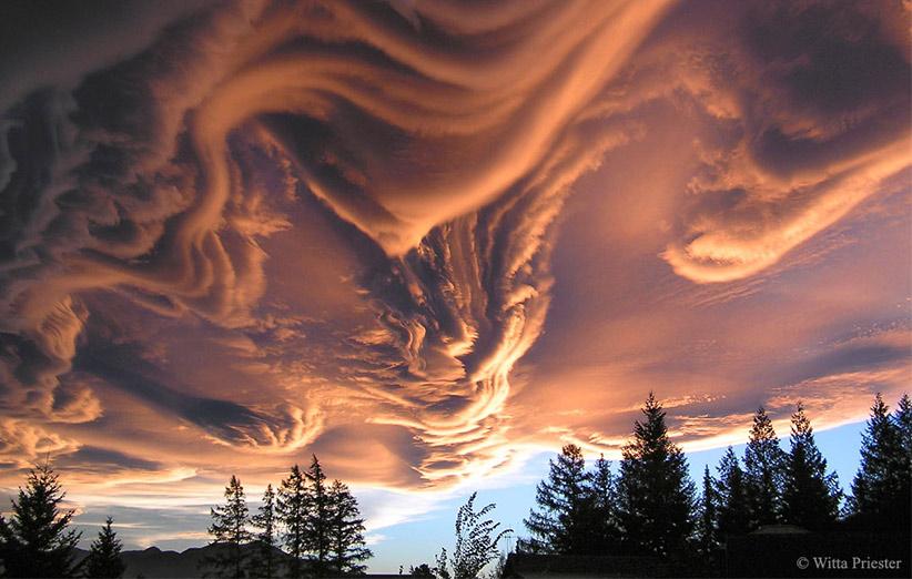 تصویر نجومی روز ناسا (۲۹ فروردین ۹۵): ابرهای شوریده برفراز نیوزیلند