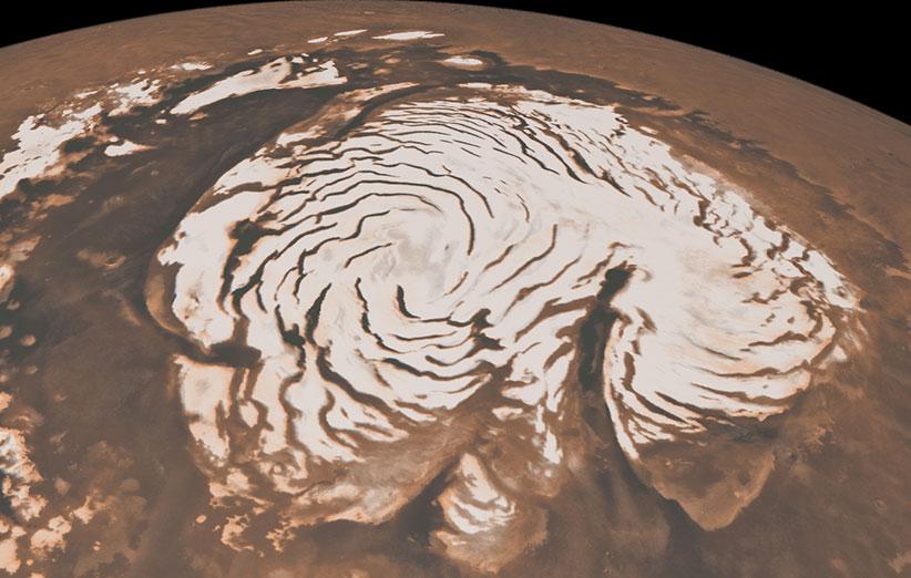 قطعه یخی بزرگ زیر سطح مریخ پیدا شد