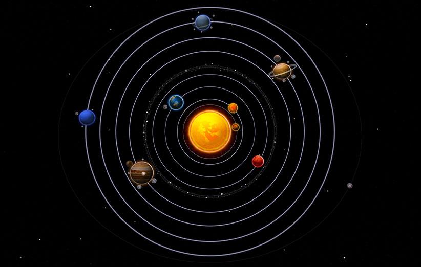 در صحرای نوادا، یک منظومهی شمسی ۱۱ کیلومتری ساخته شد