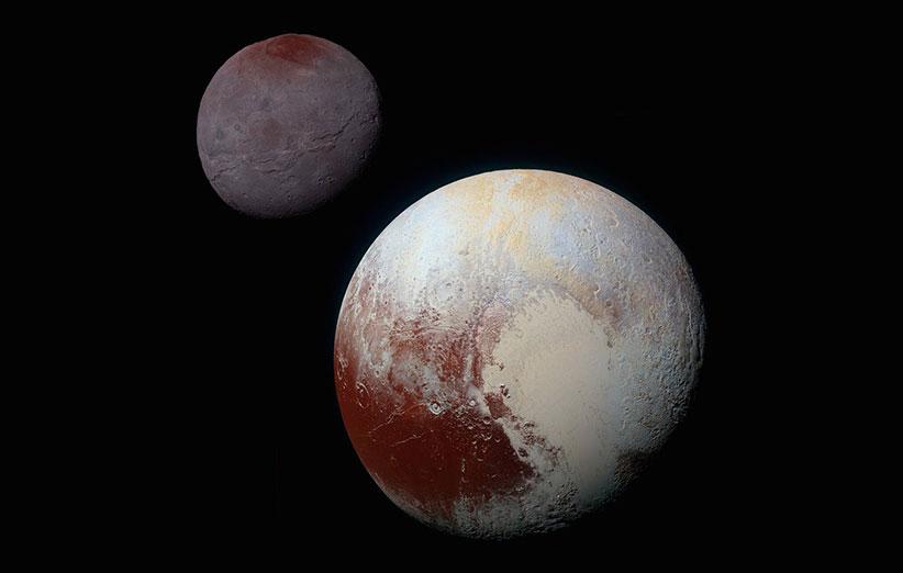 عکس جدید و فوق با کیفیت از کارن، قمر پلوتو را ببینید