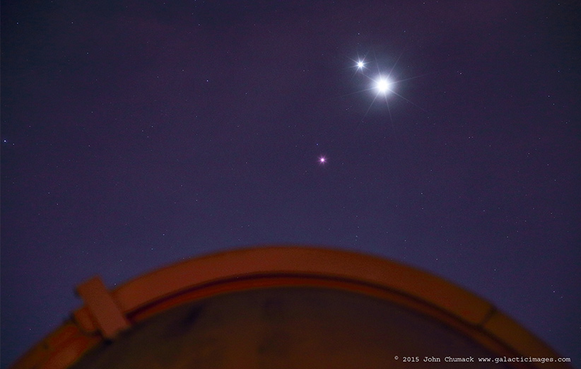 تماشای سیارههای مشتری، زهره و مریخ را از دست ندهید