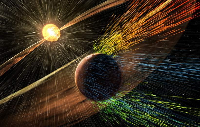 ناسا رسما اعلام کرد: بادهای خورشیدی، اتمسفر مریخ را به تدریج از بین برده است