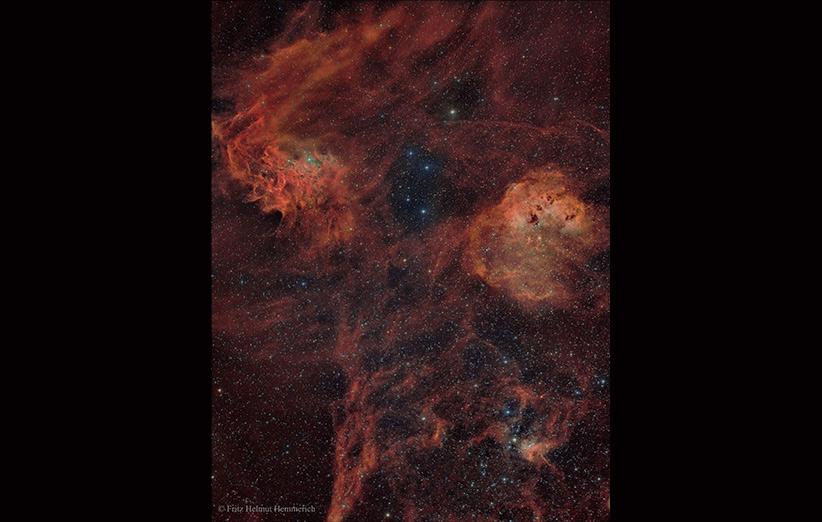 تصویر نجومی روز ناسا (۱۳ آبان ۹۴): سحابی بزرگ شکارچی