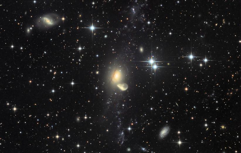 تصویر نجومی روز ناسا (۳۰ آبان ۹۴): بازیابی کهکشان NGC 5291