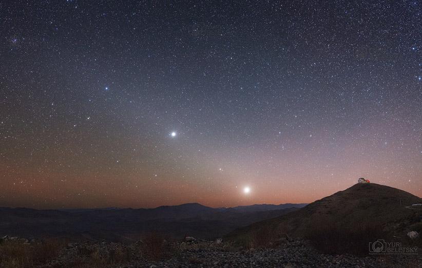 تصویر نجومی روز ناسا (۵ آذر ۹۴): سیارههای بامدادی