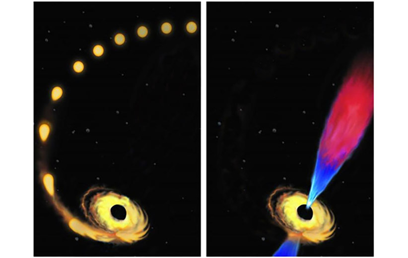 مشاهدهی روند کامل بلعیده شدن یک ستاره توسط سیاهچاله، برای اولین بار