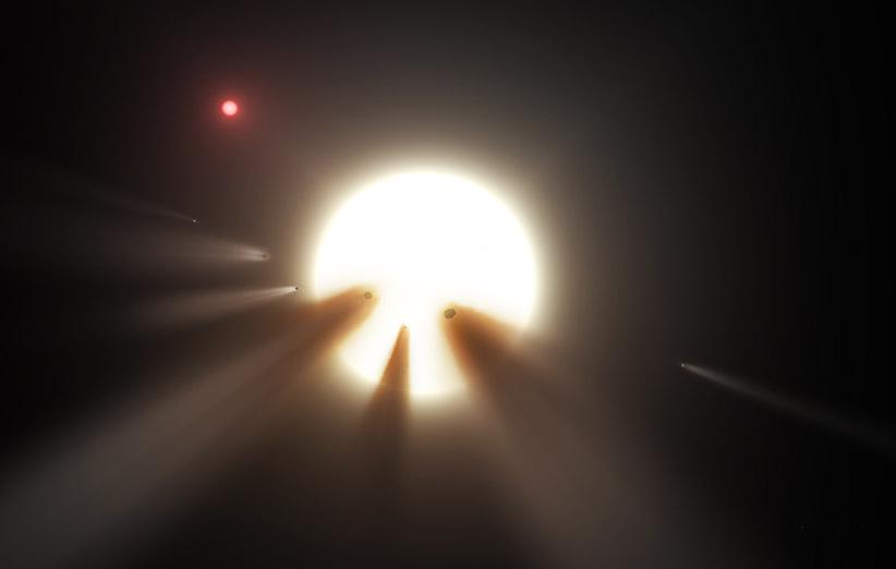 آیا تودههای عظیم ناشناختهای که دور این ستاره میچرخند، موجودات بیگانه هستند؟