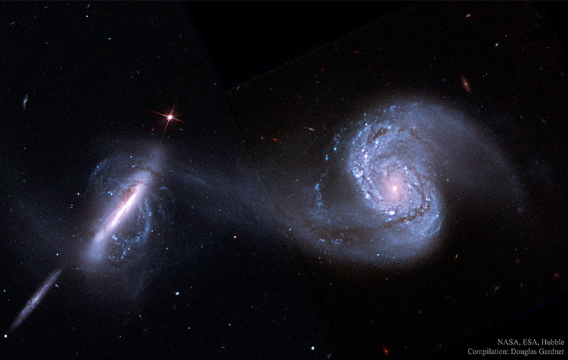 تصویر نجومی روز ناسا (۱۸ آذر ۹۴): رقص مرگ کهکشانها