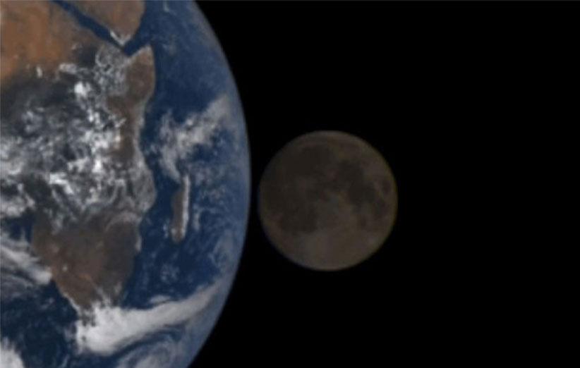 ماهگرفتگی را از فضا ببینید