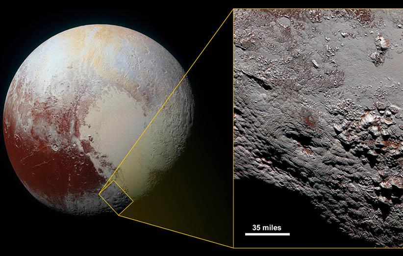 تصویر نجومی روز ناسا (۲۵ دی ۹۴): کوههای رنگی رایت