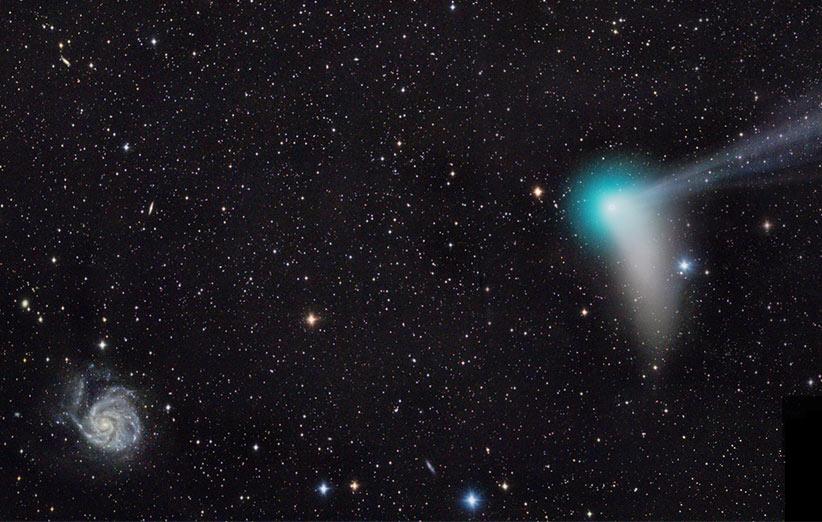 تصویر نجومی روز ناسا (۱ بهمن ۹۴): به سوی کهکشان فرفره