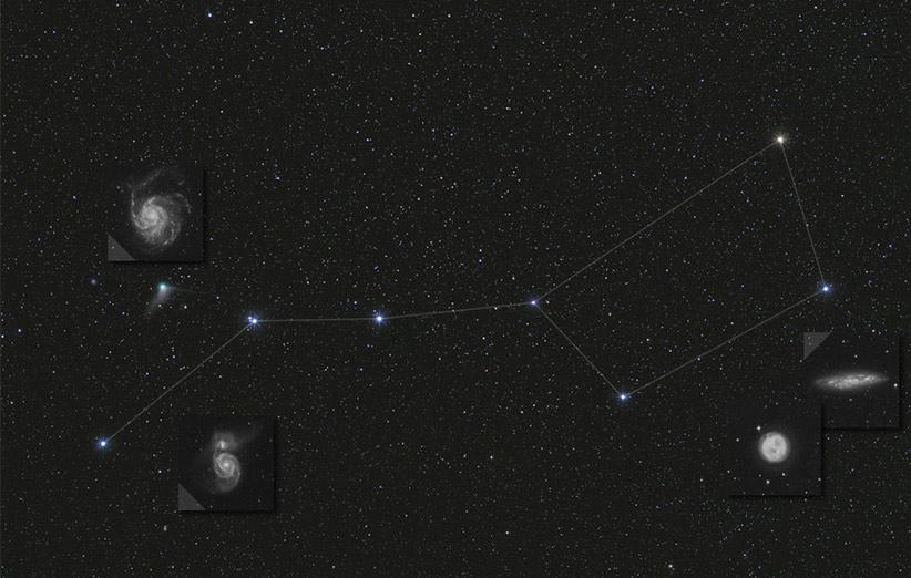 تصویر نجومی روز ناسا (۳ بهمن ۹۴): کهکشانهای صورت فلکی دب اکبر