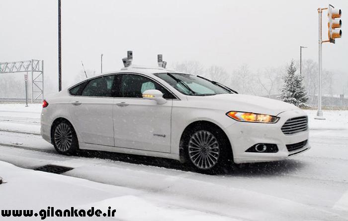 اتومبیل خودران فورد در برف