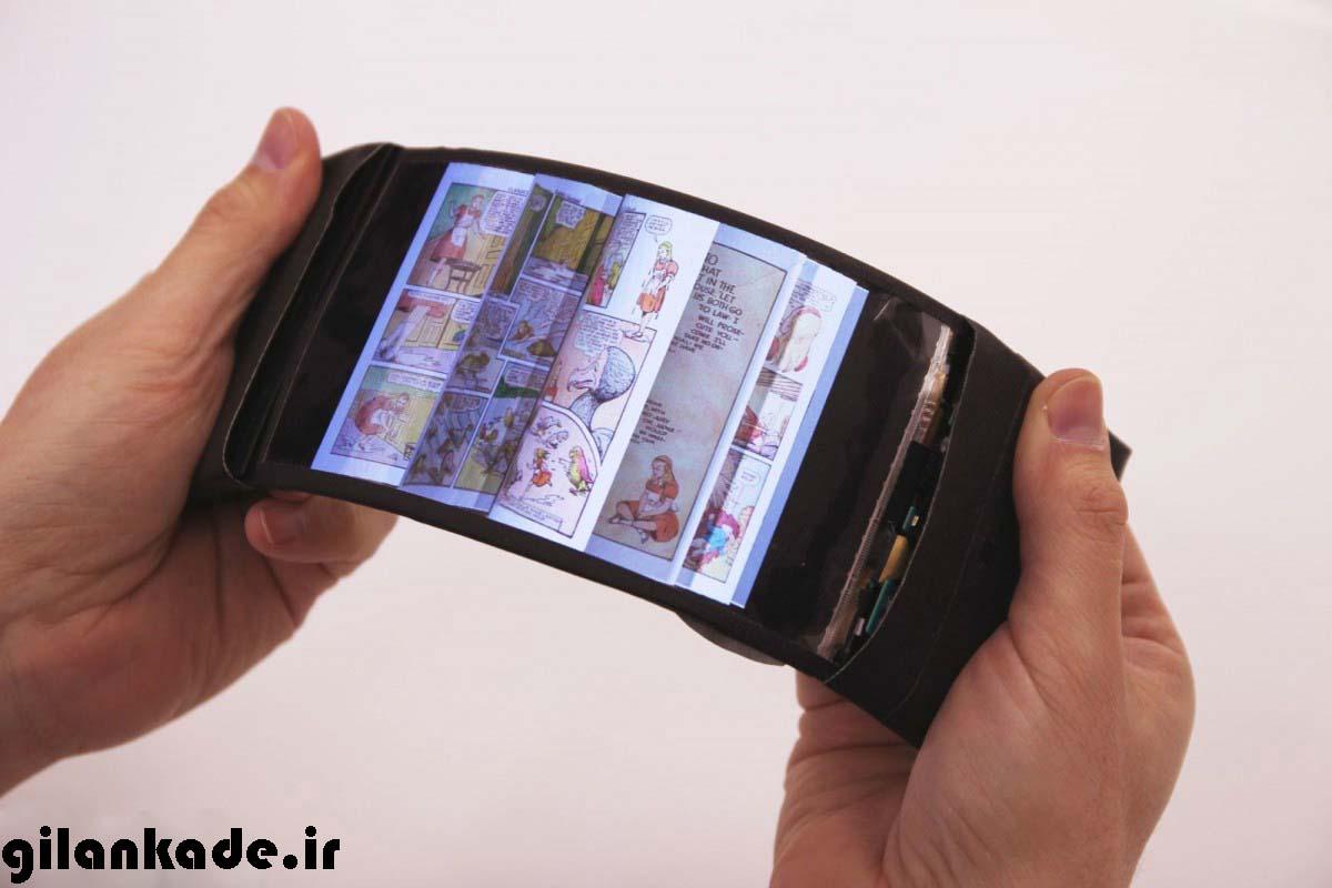 گوشی های هوشمند با نمایشگرهای قابل انعطاف ساخته می شوند